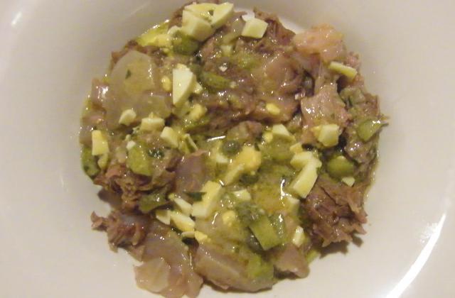 Tête de veau sauce gribiche - Photo par marierechou