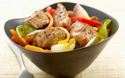 Sauté de porc et légumes de saison - Photo par Le Porc