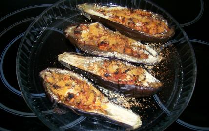 Aubergines farcies à la tomate et au jambon - Photo par 750g