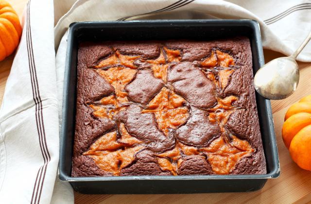 Brownie marbré au potiron - Photo par Silvia Santucci