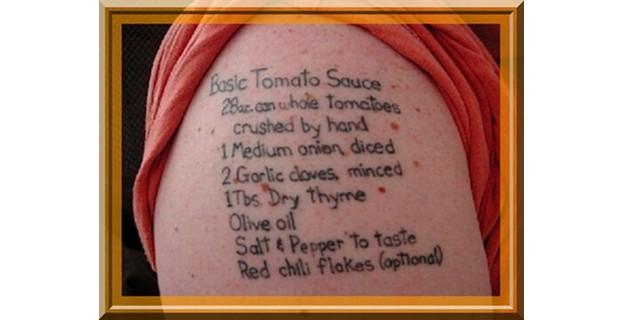 Top 10 des tatouages miam-miam, ou pas miam ! - Photo par Bérengère