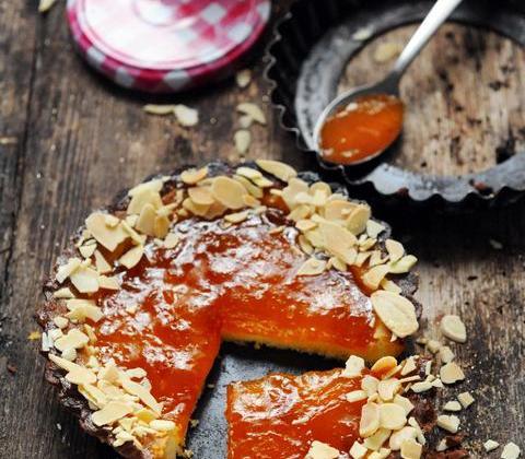 Shortbread tartelettes à l'abricot et aux amandes - Photo par Bonne Maman