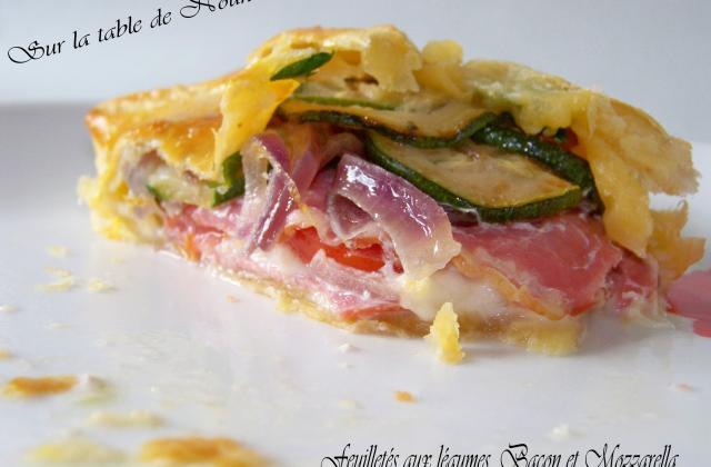 Feuilletés aux petits légumes, bacon et mozzarella - Photo par Nounoune25