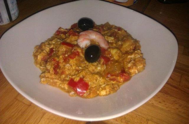 Ojja (omelette tunisienne) aux crevettes - Photo par la cuisine de doudou