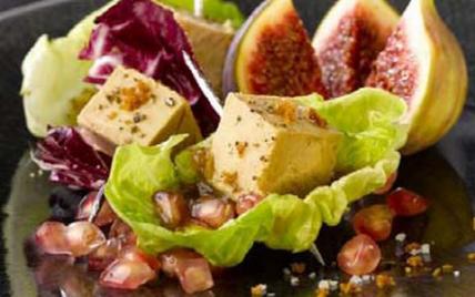 Petites bouchées de Foie Gras en coeur de salade - Photo par CIFOG