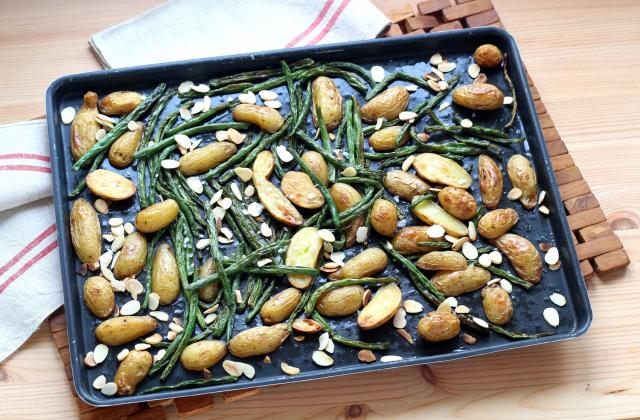 Pommes de terre et haricots rôtis aux amandes - Photo par Silvia Santucci