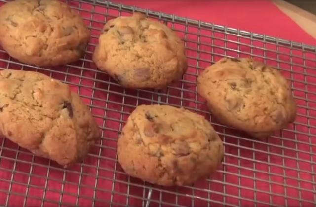Cookies aux amandes finement chocolatés - Photo par Chef Damien
