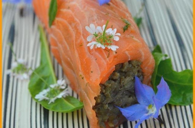 Cannelloni de saumon et lentilles vertes du Puy - Photo par Chef Damien