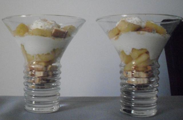 Verrine de pommes au fromage blanc - Photo par emilie013