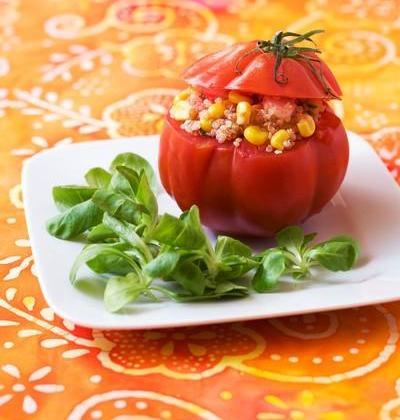 Tomates farcies au taboulé de quinoa - Photo par Passion Céréales