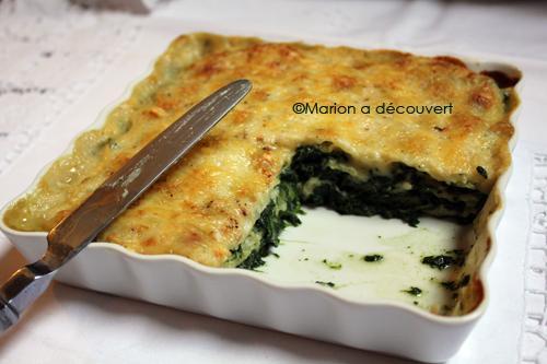 Gratin de ravioles aux épinards, fromage et béchamel - Photo par marion a decouvert