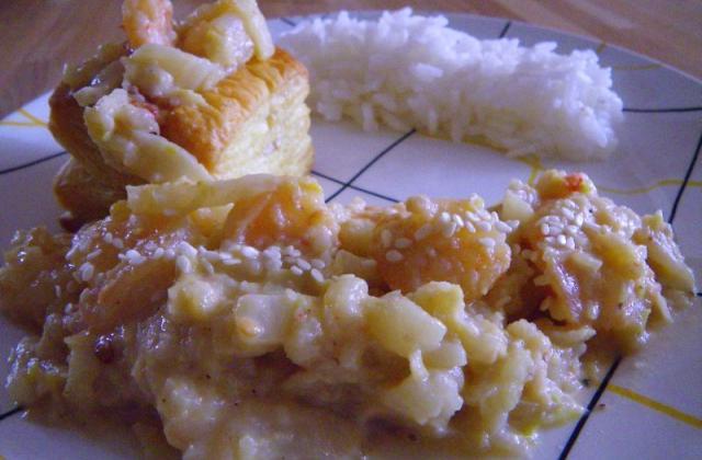 Crevettes sautées à la vanille et au chou chinois - Photo par moum00