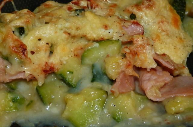 Gratin de courgette au bacon - Photo par La popote d'alex