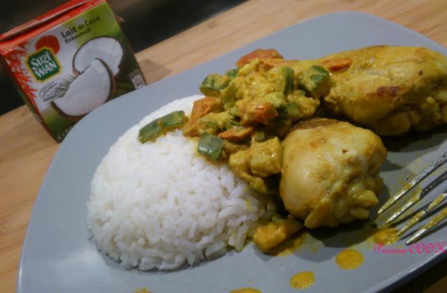 Poulet coco / curry et courgettes - Photo par prissoucook