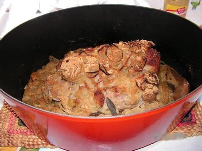 Rôti de porc accompagné d'une purée pomme de terre et celeri-rave - Photo par kekeli
