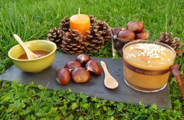 Compote maléfique de châtaignes et sa crème de caramel à la fleur de sel - Photo par AurelieJeromeLucas