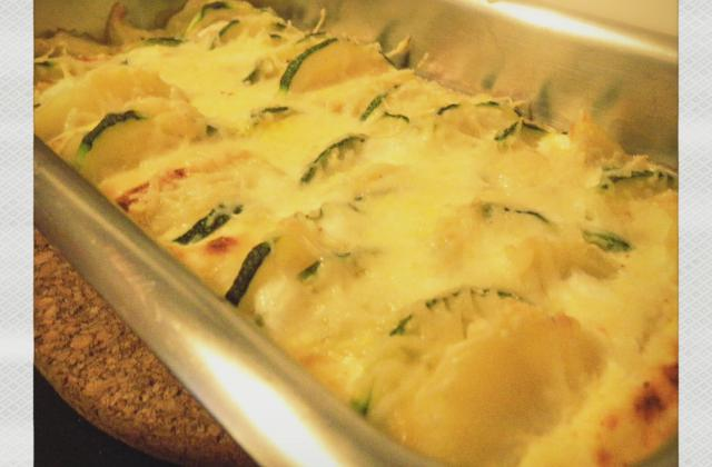 Gratin de pommes de terre, courgette et Neuf Châtel - Photo par leene