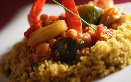 """Couscous de crevettes """"zest'"""" - Photo par Délice & Sens"""