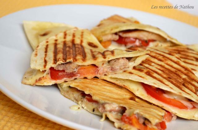 Quesadillas aux sardines, tomates et mozzarella - Photo par Invité