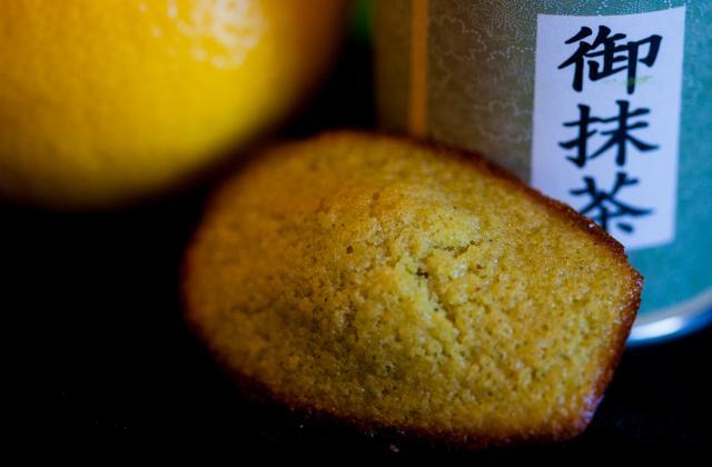 Madeleines au citron et thé vert matcha - Photo par charleWy