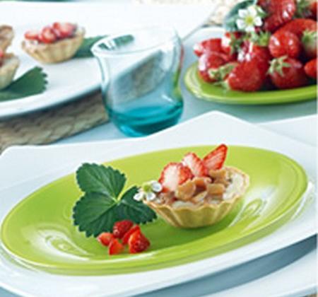 Tartelettes fraises-rhubarbe - Photo par Luminarc