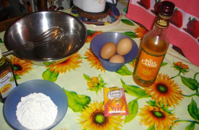 Gâteau renversé à l'ananas express - Photo par carla0