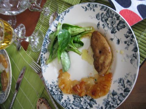 Foie gras poêlé à l'ananas caramélisé - Photo par anazna