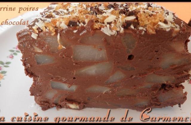 Terrine poires & chocolat - Photo par Carmen