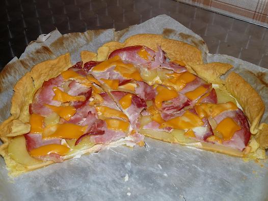 Tarte au bacon et Cheddar - Photo par marionS6d