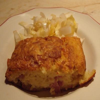 Cake au jambon et gruyère râpé - Photo par 750g