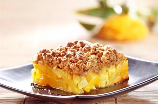Crumble d'ananas mangue pain d'épices - Photo par Toupargel