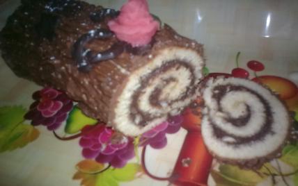 Bûche de Noël chocolat/noix - Photo par missdai