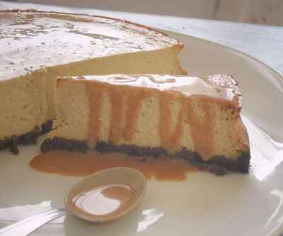 Cheesecake banane sauce caramel au lait de coco et rhum - Photo par xriski