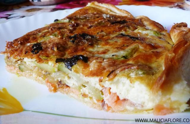 Quiche au saumon et courgettes - Photo par MaliciaFlore