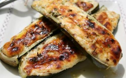 Courgettes farcies, ricotta et parmesan - Photo par Dan