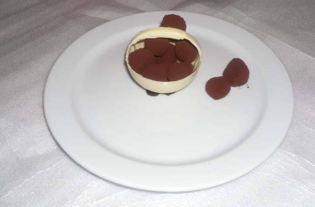 Panier gourmand au chocolat blanc et truffe - Photo par Adri74