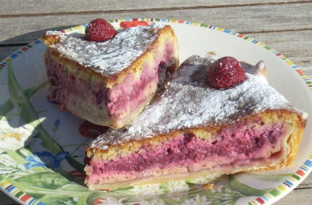 Bakewell pudding aux framboises - Photo par La soupe à la citrouille