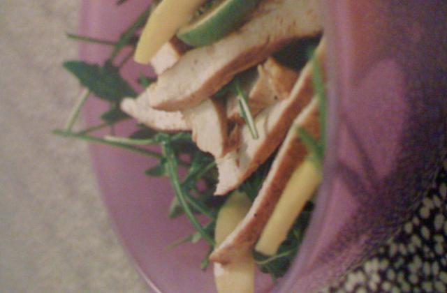 Salade de dinde grillée à la mangue - Photo par le fous du fourneau