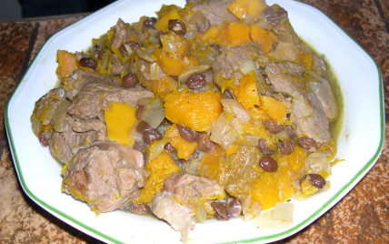 Tajine d'agneau au potimaron et épices - Photo par dele94