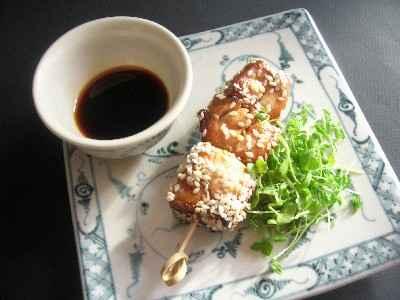 """Brochettes de poulet caramélisées et graines germées - Photo par Dominique - """"Cuisine plurielle"""""""
