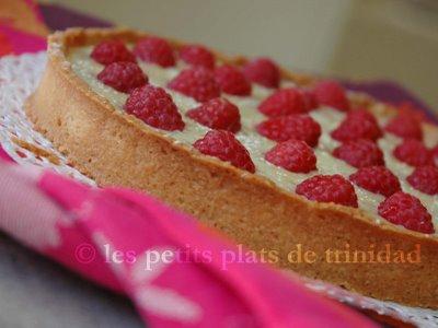 Tarte gourmande chocolat blanc et framboises - Photo par 750g