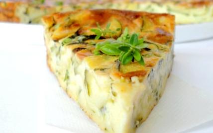 Clafoutis léger aux courgettes & fromage de chèvre - Photo par mathildee