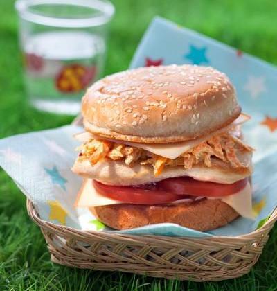 Le burger FLO EPI burger, poulet, curry - Photo par Fol Épi