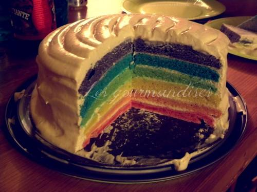 Gâteau arc en ciel - Photo par patouetmary