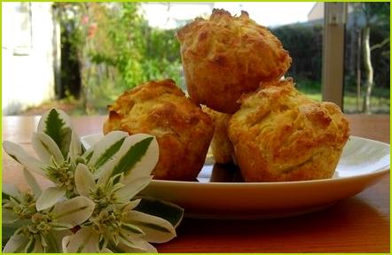 Muffins aux pommes tout moelleux - Photo par gradzi