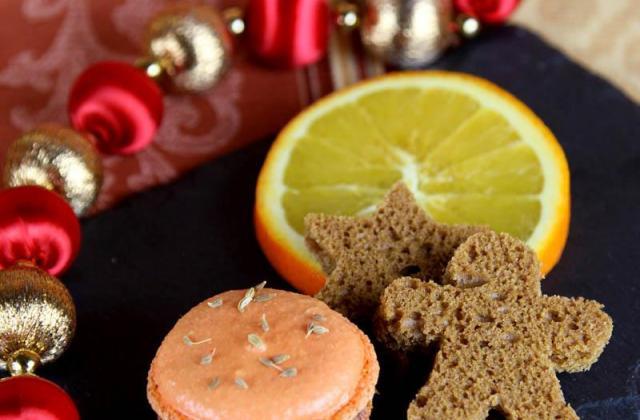 Macarons pain d'épices et orange - Photo par macaron-passion