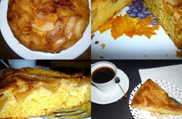 Gâteau aux pommes caramélisées traditionnel - Photo par lilimarti