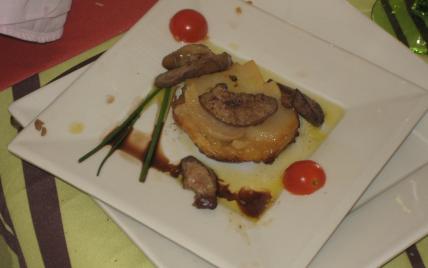 Escalopes de foie gras de canard aux tatins de navet - Photo par joscell