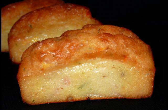 Minis cakes au saumon - Photo par les gourmandises de chloe