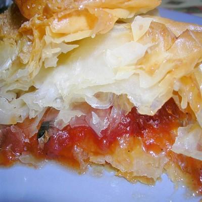 Tourtière à la compotée de tomates (dessert) - Photo par sylvetM